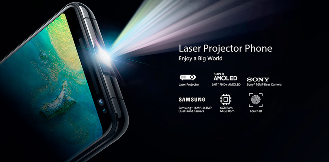 Blackview MAX 1 Laser Projector phone 6.01 inch 18:9 Amoled